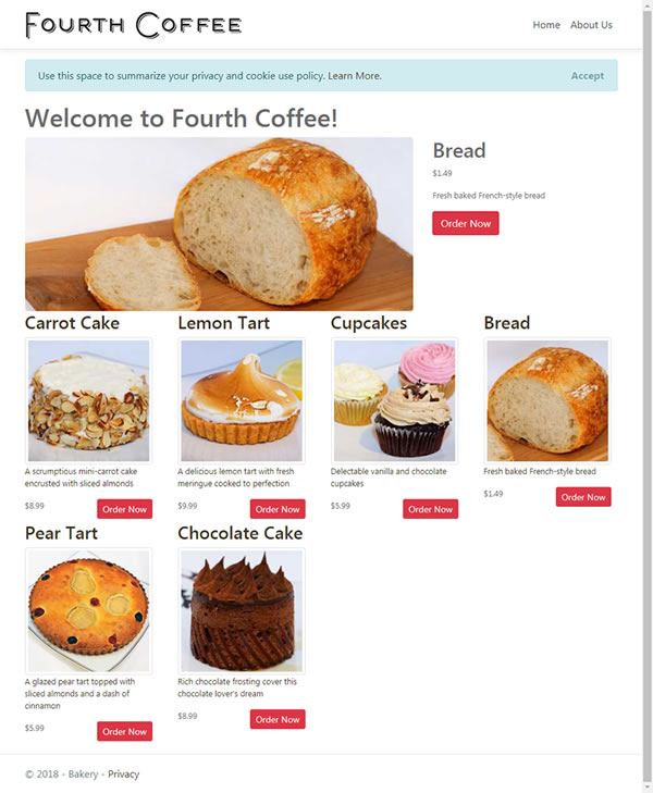 Bakery Home Page